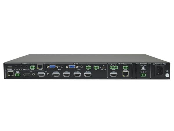 9x1 4K Presentation Scaler Switcher inc. Audio Amplifiers