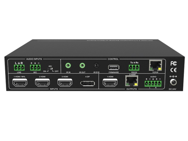 4x2 4K Multi-Format Scaler Switcher with Matrix Output