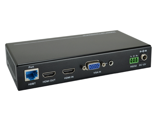 2x1 Scaler Switcher with HDBaseT Output Transmitter
