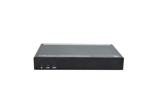 4K HDMI Extender with Audio Breakout and Relay Control via HDBaseT Technology