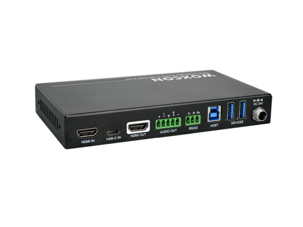 2x1 Meeting Room Video Solutions 18G 4K  Presentation Switcher with Soft Codec and CEC
